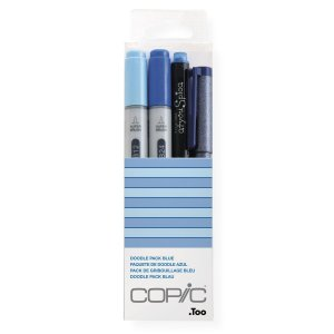 Kit Marcador Copic Ciao Doodle 4 Unidades Pack Blue