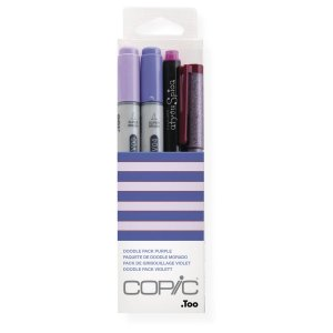 Kit Marcador Copic Ciao Doodle 4 Unidades Pack Purple