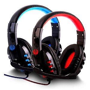 Headphone Gamer Bass Haiz- 1804 Com Fio Corda Microfone