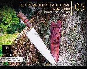 FACA PICANHEIRA TRADICIONAL INOX 3mm - SG FACAS ARTESANAIS