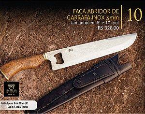 FACA ABRIDOR DE GARRAFA INOX 3mm - SG FACAS ARTESANAIS