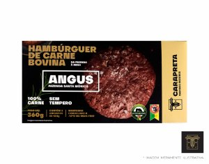 BURGER BOVINO ANGUS - CARAPRETA (02 x 180g) - CONGELADO