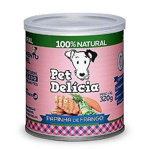 Papinha De Frango 320g P/ Cães