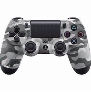 Controle Original Sony Cinza Camuflado - Ps4 Usado
