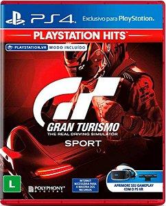Jogo Gran Turismo Sport Playstation Hits - Ps4 Mídia Física