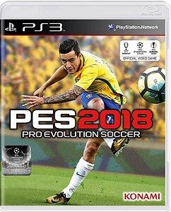 Jogo Pro Evolution Soccer 2018 - Ps3 Mídia Física Usado