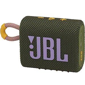 Caixa de Som Bluetooth JBL GO3 Verde