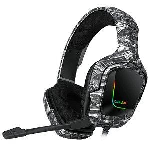 Headset Onikuma Gamer K20 Camuflado Preto/ Branco Ps4/Xbox One