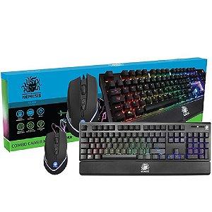 Combo Gamer NEMESIS NMX Teclado Mecânico e Mouse Macro KG-01N
