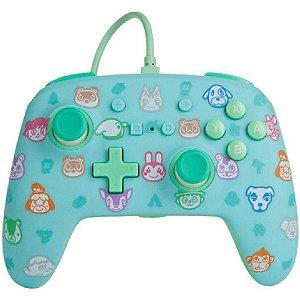 Controle PowerA Aprimorado Com Fio Nintendo Switch Animal Crossing