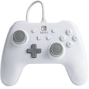 Controle PowerA Com Fio Nintendo Switch Branco