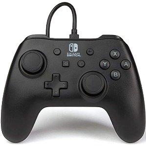 Controle PowerA Com Fio Nintendo Switch Preto