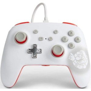 Controle Aprimorado Com Fio Nintendo Switch Super Mario Branco