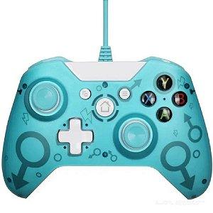 Controle Xbox One S com Fio N-1 Azul