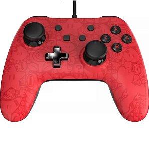 Controle com Fio Nintendo Switch Vermelho Power UP Mario - PowerA Usado