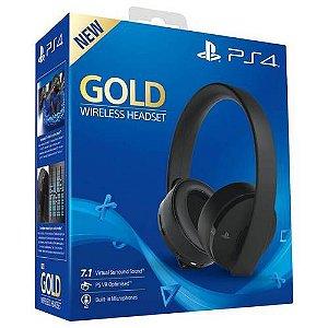 Headset Wireless Playstation Gold Sony Preto 7.1 Surround Seminovo