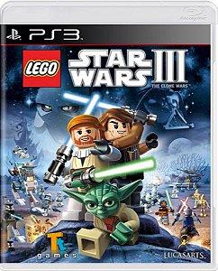Jogo Lego Star Wars III The Clone Wars - Ps3 Mídia Física Usado