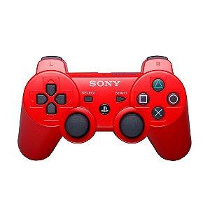Controle Original Sony Vermelho - Ps3 Usado