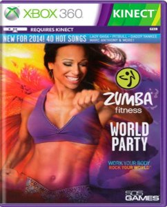 Jogo Zumba Fitness World Party - Xbox 360 Mídia Física Usado