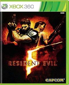 Jogo Resident Evil 5 - Xbox 360 Mídia Física Usado