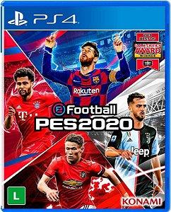 Jogo eFootball PES 2020 - PS4 Mídia Física Usado