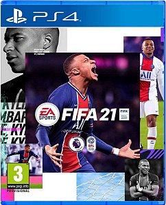Jogo Fifa 21 - PS4 Mídia Digital 12 Digitos
