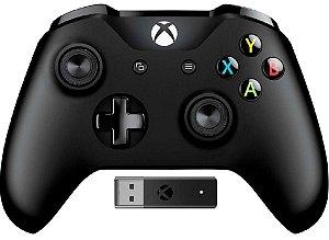 Controle sem fio Microsoft Xbox One + Wireless Adapter