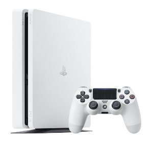 Sony Playstation 4 Slim 500gb Standard Jet Branco Seminovo
