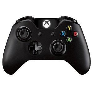 Controle Original Microsoft Preto - Xbox One Usado