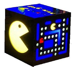 Luminaria Cubo Pac Man com Retrobox 20.000 Jogos