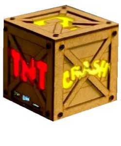 Luminaria Cubo Crash com Retrobox 20.000 Jogos