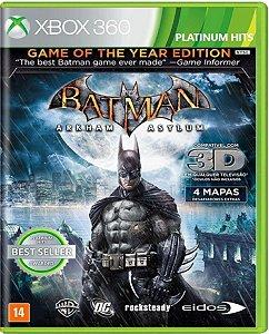 Jogo Batman Arkham Asylum - Xbox 360 Mídia Física Usado