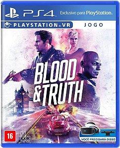 Jogo Blood e Truth - PS4 Mídia Física Usado