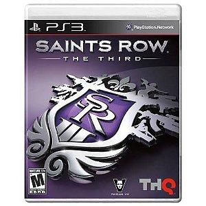 Jogo Saints Row The Third - Ps3 Mídia Física Usado