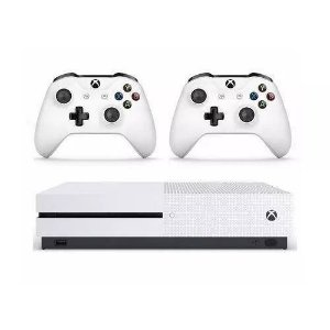 Microsoft Xbox One S 1tb Two-controller Bundle Branco Usado