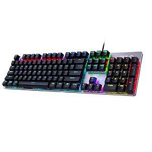 Teclado Mecânico Gamer AULA Wind F2066-II com LED