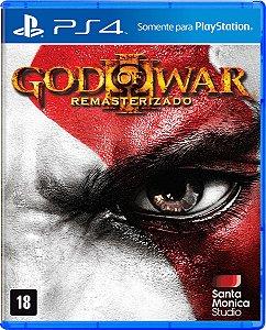 Jogo God of War 3 - Remasterizado - Ps4 Mídia Física Usado