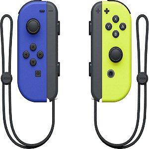 Controle Original Nintendo Joy- Con (L)/(R) Neon Blue/Yellow
