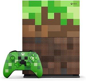 Xbox One S 1TB Edição Minecraft Seminovo