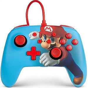 Controle com Fio Nintendo Switch Super Mario Azul - PowerA