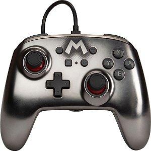Controle PowerA Aprimorado Nintendo Switch Super Mario Prata
