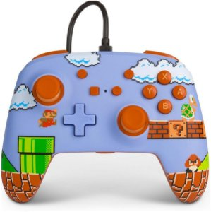 Controle Aprimorado Com Fio Nintendo Switch Super Mario Bros