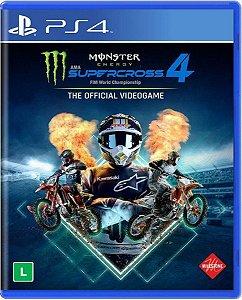 Jogo Monster Energy Supercross 4 - Ps4 Mídia Física