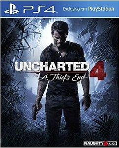 Jogo Uncharted 4 A Thief End - Ps4 Encartelado Usado