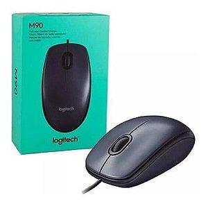 Mouse com fio USB Logitech M90 Preto 1000 DPI