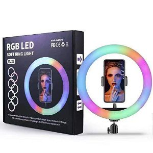 RGB LED SOFT RING LIGHT MJ26 26cm com tripé 2.10cm