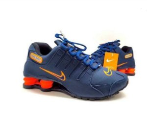Nike Shox NZ 4 Molas Azul marinho e Laranja