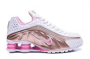 Nike Shox R4 Rosa e Branco