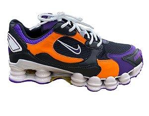 Nike TL 12 molas preto, laranja e roxo
