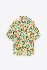 Camisa Floral Manga Curta